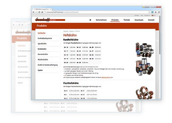 Overhoff-draht.de in neuem Gewand | August Overhoff Drahtwerk GmbH